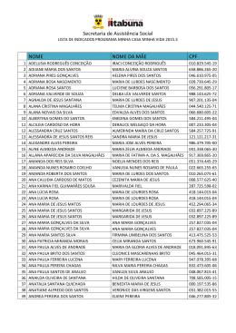 3° lista - Prefeitura de Itabuna