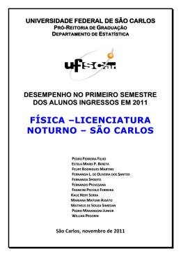 física –licenciatura noturno – são carlos - UFSCar