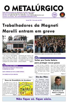 Edição 705 13/5/2012 - Sindicato dos Metalúrgicos de Santo André