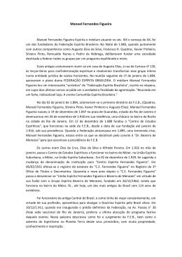 Manoel Fernandes Figueira - Federação Espírita Brasileira