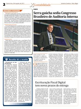 Serra gaúcha sedia Congresso Brasileiro de Auditoria Interna