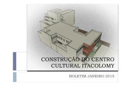 Boletim 25 jan - Centro Cultural Mangabeiras