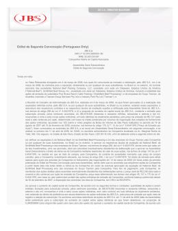 Edital de Segunda Convocação (Portuguese Only)