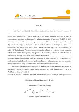 EDITAL ------------SANTIAGO AUGUSTO FERREIRA MACIAS