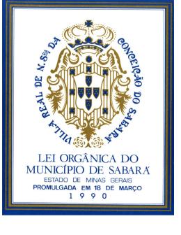 lei orgânica municipal de sabará