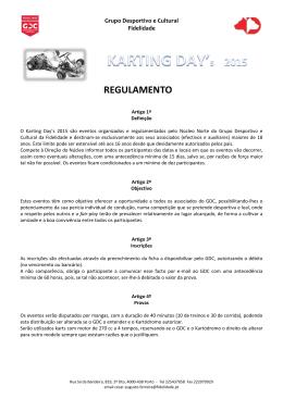 REGULAMENTO - Grupo Desportivo
