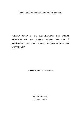 levantamento de patologias em obras - Poli Monografias