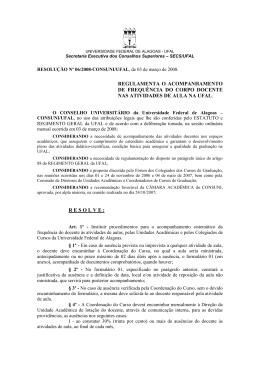 resolução nº 06/2008-consuni/ufal