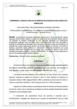 COMPRIMENTO, LARGURA E PESO DE 100 SEMENTES