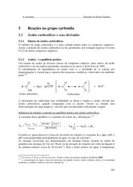 5 Reações no grupo carbonila - Cefet