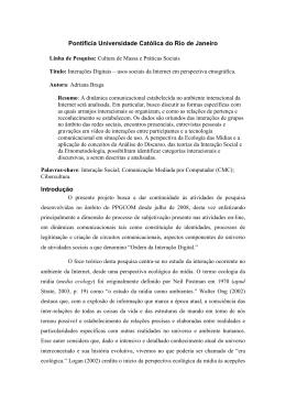 usos Sociais da Internet em Perspectiva Etnográfica - PUC-Rio