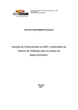 Solução de Controvérsias na OMC: a efetividade do