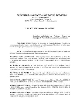 perímetro urbano - centro - Câmara Municipal de Vereadores de