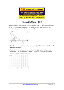Geometria Plana – 2015 - NS Aulas Particulares
