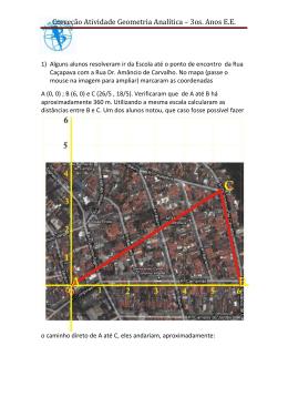 Correção Atividade Geometria Analítica – 3os. Anos E.E.