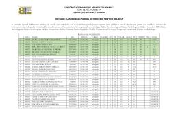 edital de classificação parcial do processo seletivo 001/2015