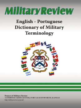 English-Portuguese Dictionary of Military Terminology