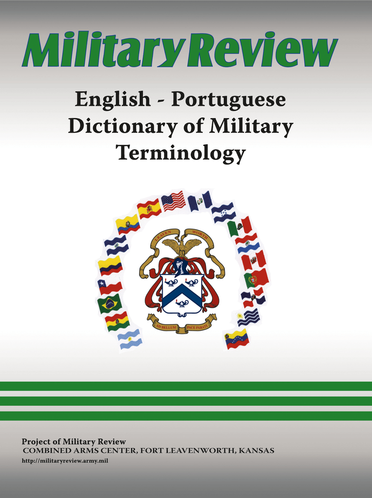 English portuguese dictionary of military terminology fandeluxe Image collections
