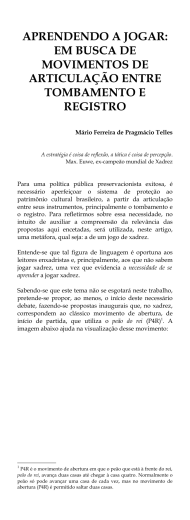 APRENDENDO A JOGAR: EM BUSCA DE MOVIMENTOS DE
