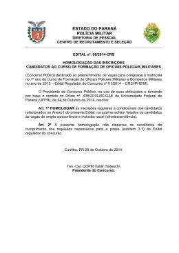 estado do paraná polícia militar - NC- UFPR