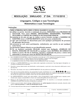 RESOLUÇÃO SIMULADO 2º DIA 17/10/2010
