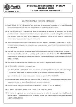 2º SIMULADO ENEM - 1ª Etapa.indd