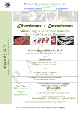 Divertimento / Entertainment - Portuguese American Suncoast