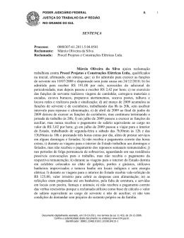 SENTENÇA Processo: 0000307-61.2011.5.04.0541 Reclamante