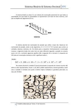 Sistema Binário & Sistema Decimal - pradigital-tome