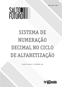 sistema de numeração decimal no ciclo de alfabetização