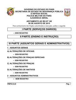 ADIT. BG 140 - De 06 AGO 2015 - Proxy da Polícia Militar do Pará!