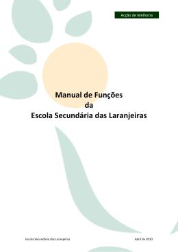 Manual de Funções da Escola Secundária das Laranjeiras