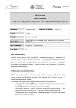 A ação do Assistente Operacional na inclusão dos