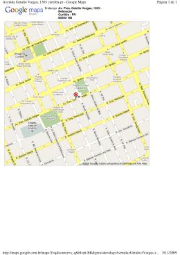 Página 1 de 1 Avenida Getulio Vargas, 1303 curitiba-pr