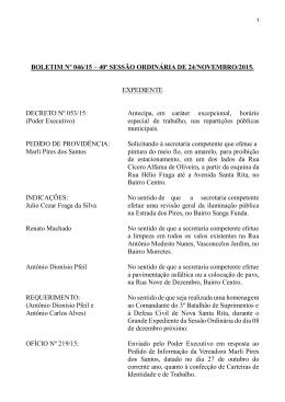 Boletim 046-2015 - Câmara de Vereadores de Nova Santa Rita A