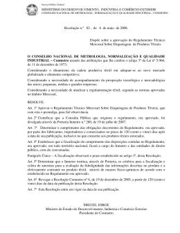 Resolução Conmetro 02/2008