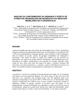 análise da conformidade da demanda e oferta de atributos