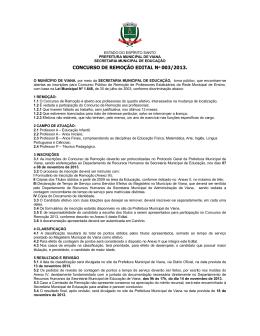 CONCURSO DE REMOÇÃO EDITAL Nº 003/2013.