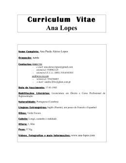 Portuguese CV