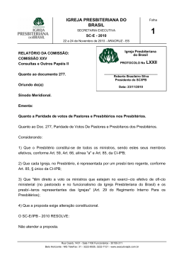 doc. lxxii - Secretaria Executiva da IPB