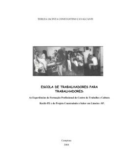 ESCOLA DE TRABALHADORES PARA