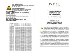 laser show system effet laser rvb rgb lasereffekt user`s