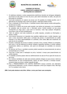 1 CADERNO DE PROVAS CARGO: ASSISTENTE