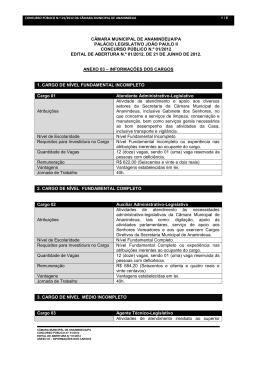 Anexo 03 - Informações dos Cargos