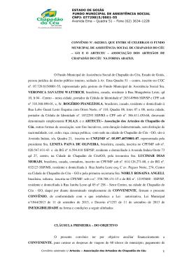 Contrato - Prefeitura Municipal Chapadão do Céu/Go