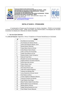 EDITAL Nº 02/2014 – PPGSS/UERN