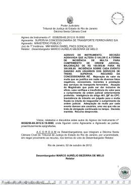 Poder Judiciário Tribunal de Justiça do Estado do Rio de Janeiro