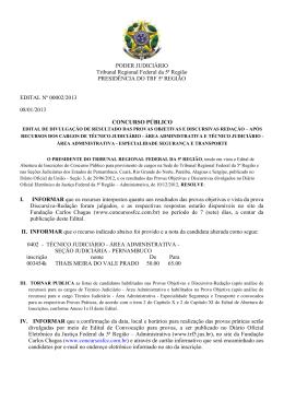 Técnico Judiciário - Tribunal Regional Federal da 5ª Região