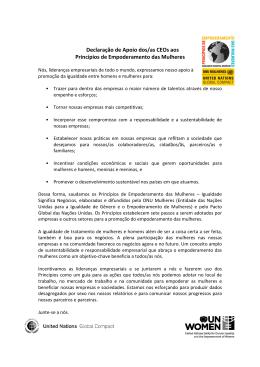 Declaração de Apoio dos/as CEOs aos Princípios
