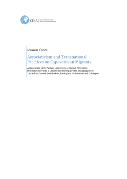 Associativism and Transnational Practices on Capeverdean